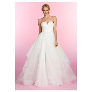 b75b65efe73d8 Hayley Paige Londyn Silk Organza Strapless Gown 6358 Formal Wedding Dress  Size 12 (L)