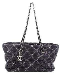 Chanel Tweed Nylon Tote in Black