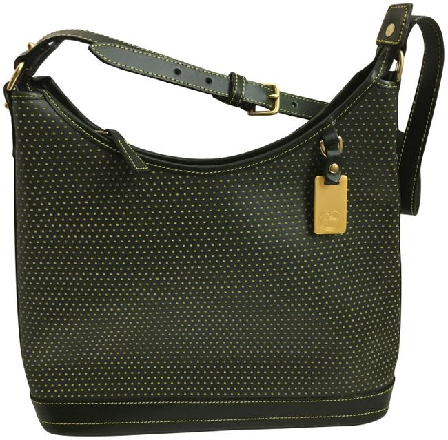 Item - Perforated Cabrio Hunter Green Leather Hobo Bag