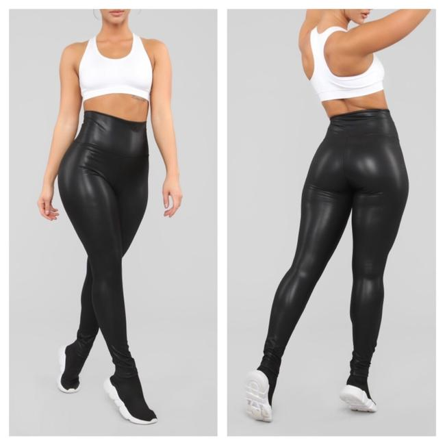 Preload https://img-static.tradesy.com/item/25090680/faux-leather-high-waisted-leggings-size-14-l-34-0-0-650-650.jpg