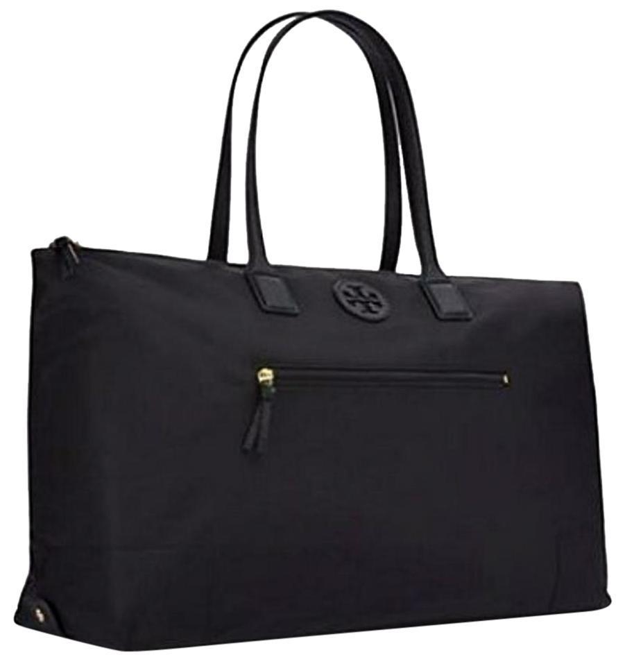 Tory Burch Bag New Large Packable Travel Weekender Black Nylon Tote