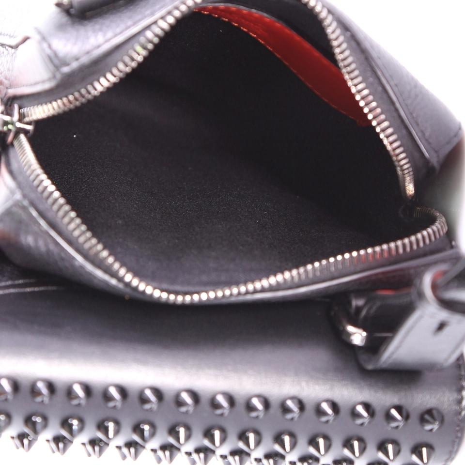 52f0fce8080 Christian Louboutin Reporter Benech Spiked Black Leather Cross Body Bag 47%  off retail