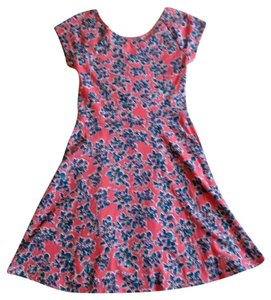 Social Occasions by Mon Cheri short dress pink with blue/green/light pink/orange floral design on Tradesy