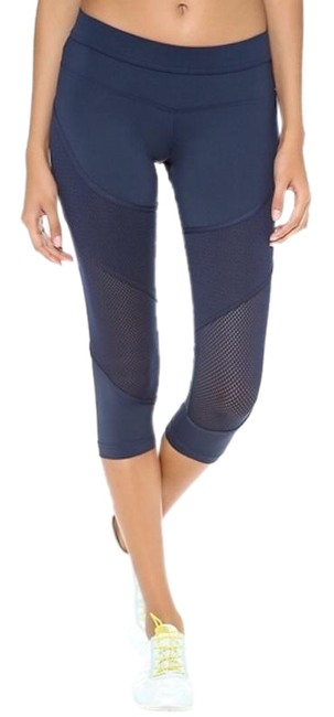 adidas By Stella McCartney Navy Performance Essentials Mesh Leggings Activewear Bottoms Size 4 (S, 27) adidas By Stella McCartney Navy Performance Essentials Mesh Leggings Activewear Bottoms Size 4 (S, 27) Image 1