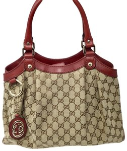 Gucci Tote in Beige and red