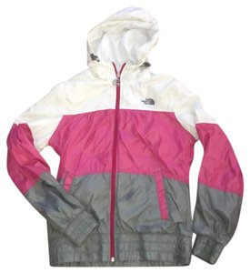 The North Face White, Pink, and Gray Jacket