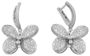 Graff Baby Princess Butterfly Earrings With White Round Pave Diamonds