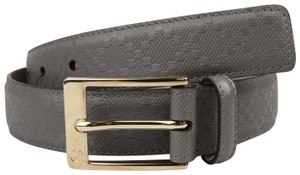 Gucci Diamante Leather Belt with Square Buckle Gray 120/48 345658 1226