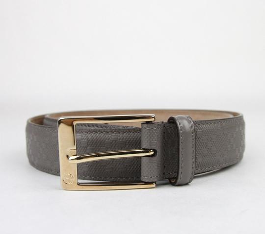 Gucci Diamante Leather Belt with Square Buckle Gray 120/48 345658 1226 Image 1