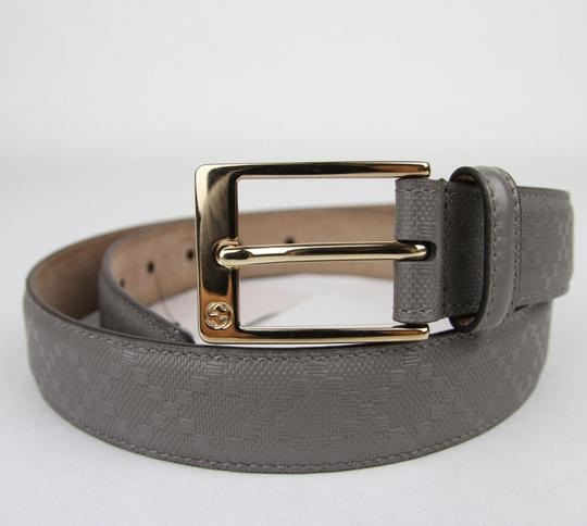 Gucci Diamante Leather Belt with Square Buckle Gray 120/48 345658 1226 Image 2
