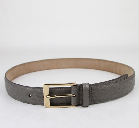 Gucci Diamante Leather Belt with Square Buckle Gray 120/48 345658 1226 Image 3