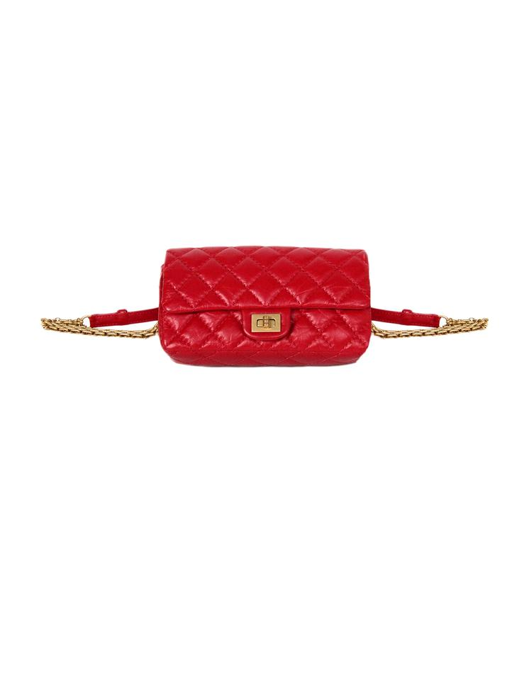 01099c48dcd2 Chanel 2.55 Reissue 2018 Quilted Reissue Belt Red Calfskin Leather ...