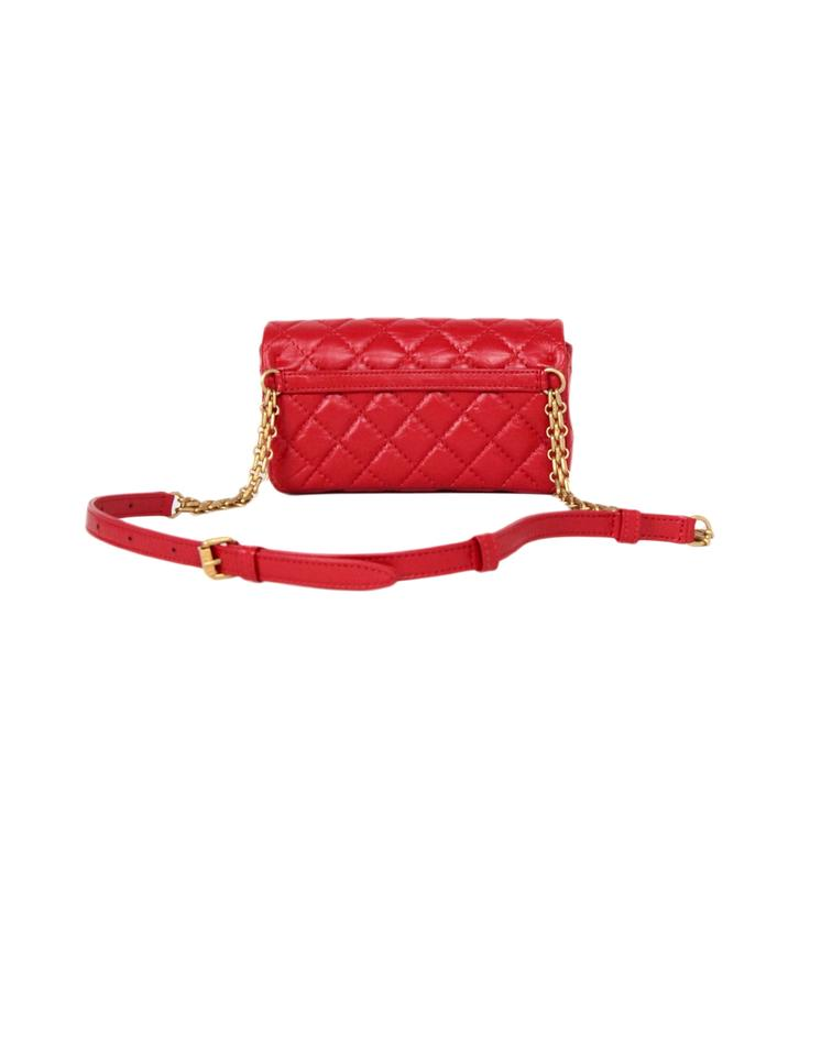 7ddce33f2a1d Chanel Classic Quilted Leather Belt Red Travel Bag Image 8. 123456789. 1 ∕ 9