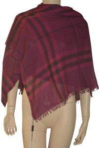 Burberry NWT BURBERRY GIANT CHECK GAUZE WOOL SILK SCARF WRAP MADE IN ITALY