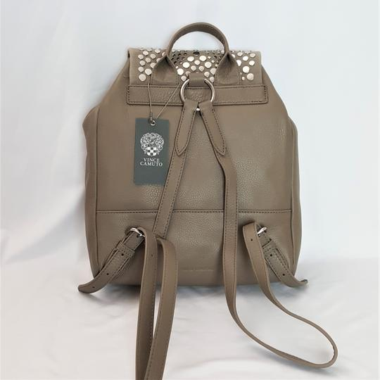 Vince Camuto Studded Silver Leather Zipper Backpack Image 1