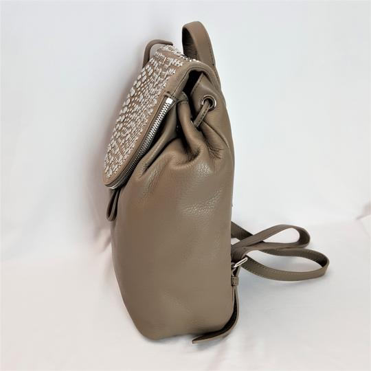 Vince Camuto Studded Silver Leather Zipper Backpack Image 2