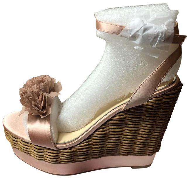Item - Blush Pink and Natural Box New In Pressa Wedges Size US 9 Regular (M, B)