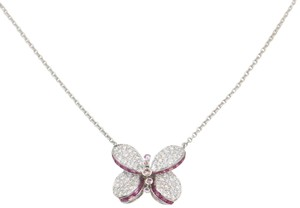 Graff Princess Butterfly Pendant with Diamonds and Pink and Purple Sapphire
