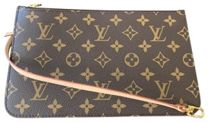 Louis Vuitton Clutch Wallets Pouch Lv Monogram Handbags Wristlet in Brown 009c9cf39f0ce