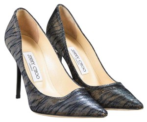 Jimmy Choo Metallic Tiger Pumps