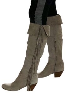 51a0c79cf8b0e Sam Edelman Black Pendra Kid Suede Fringe Tall Boots Booties Size US ...