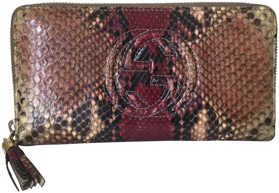 e15c31faca83 Gucci Gucci Snake Skin Compact Zippy Wallet Leather Image 0 ...