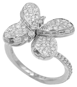Graff Baby Princess Butterfly Ring with Pavé Diamonds