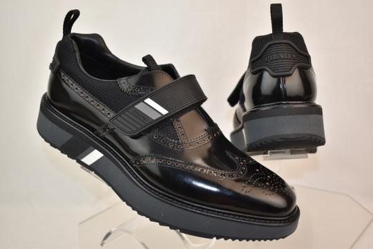 91b0bf52a6aa Prada Black Leather Brogue Wingtip Contrast Platform Loafers 8.5 Us 9.5  Shoes ...