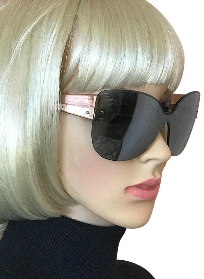 366c902251f6 Marc by Marc Jacobs Grey/Pink Mirrored Frameless Sunglasses - Tradesy