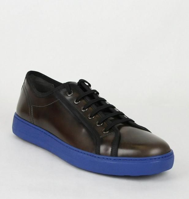 Item - Dark Silver Fulton Men's Leather Sneakers 659672 9.5 D Shoes