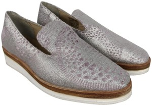 c40f6857b32 Free People Loafers Slip On Skater Slides Silver Metallic Flats