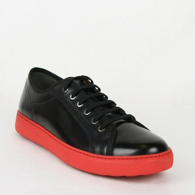 Item - Black Fulton Men's Leather Sneakers 659675 9.5 D Shoes
