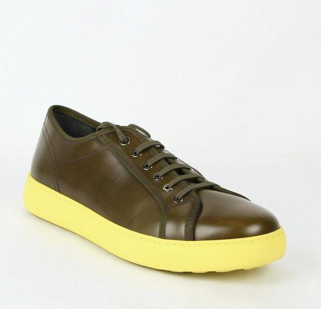 Item - Green Fulton Men's Leather Sneakers 659677 8.5 Ee Shoes