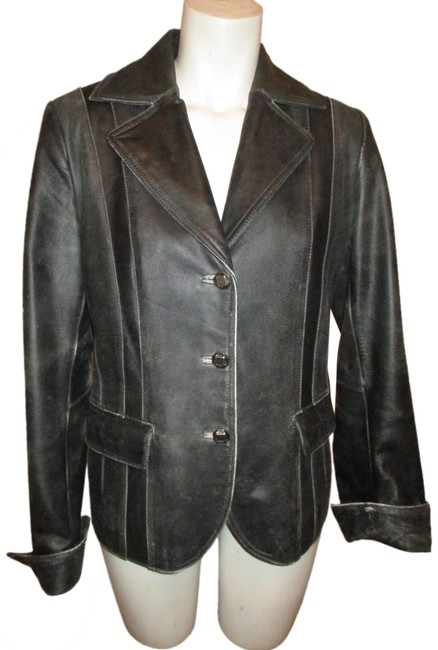 Item - Black Distressed Private Client Group Jacket Size 8 (M)