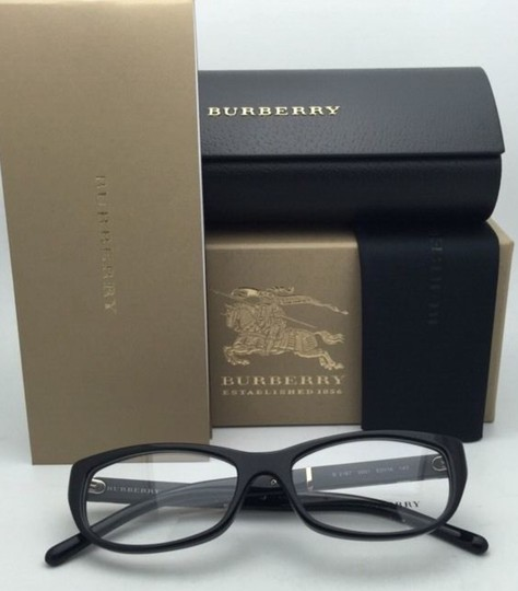 e25ca9e0757e Burberry New BURBERRY Eyeglasses B 2167 3001 52-16 140 Black Frame w  Plaid