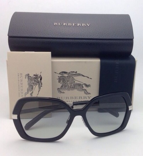 Burberry New BURBERRY Sunglasses B 4153-Q 3001/11 58-16 135 Black w/ Grey gradi Image 6