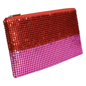 Clarins Fashion Sequin Travel Cosmetic Clutch Pouch Bag