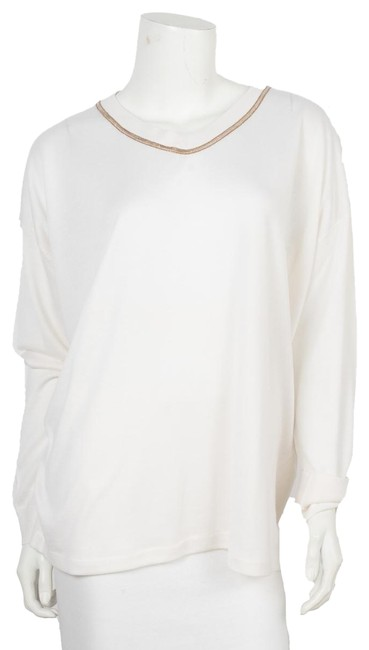 Item - V-neck Knit Xxl White Sweater