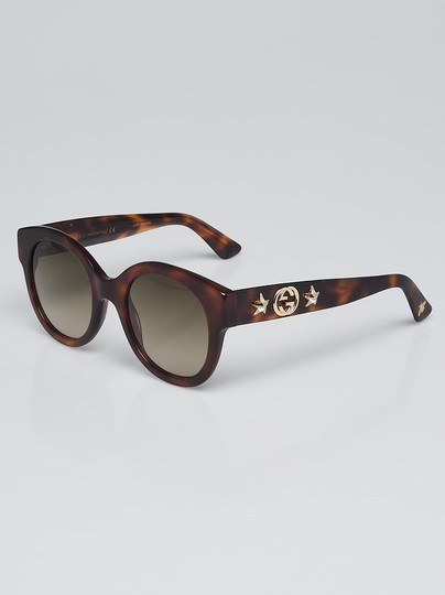 b24124230fec9 Gucci Gucci tortoise shell acetate frame Round GG sunglasses GG0207S Image 6