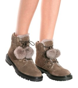 Jimmy Choo Rabbit Suede Hollywood Mink Boots