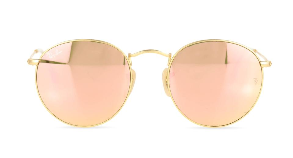 6222e482f0aef Ray-Ban Pink Round Metal with Rosegold Lenses Sunglasses - Tradesy