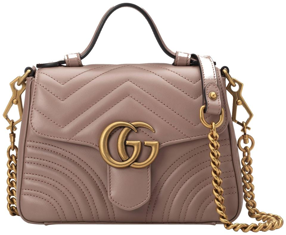 4aaae5bab242 Gucci Gg Marmont Gg Mini Gg Mormont Mini Top Handle Shoulder Bag Image 0 ...