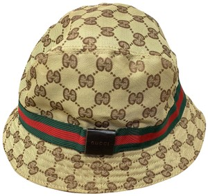 Gucci Large GG Monogram Sherry Web Bucket Hat