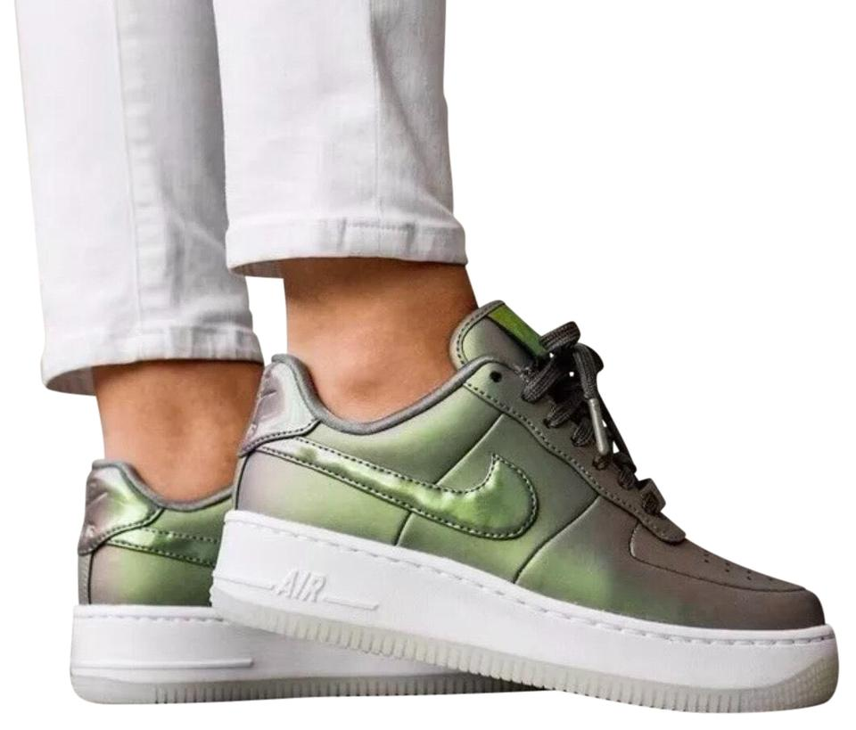 various colors 9ae0b d0e1e Nike Green Women s Air Force 1 Upstep Premium Lx Iridescent Leather Upper  For A Stand Out Look. Foam Sole With Sneakers
