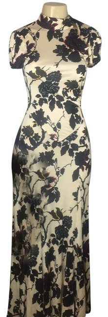 Item - Black/Cream/Red/Gold Stunning Exotic Runway Evening Gown Long Cocktail Dress Size 6 (S)