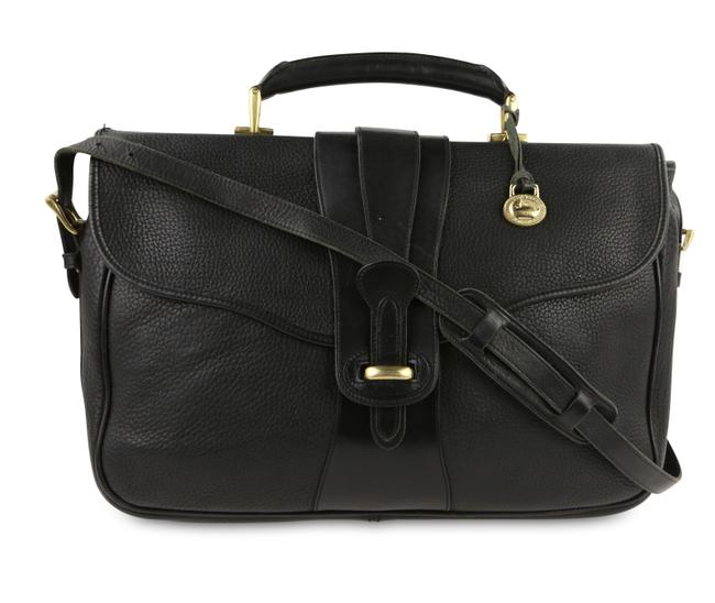 Item - All Black Leather Laptop Bag