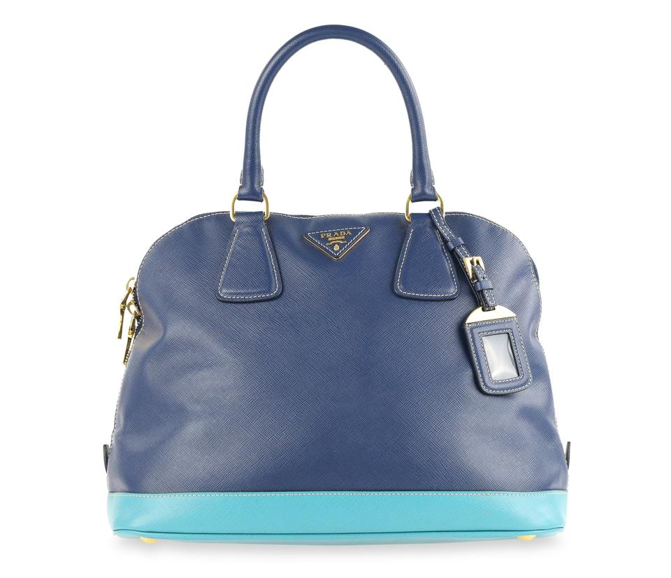 0cf1b72dfd27 Prada Galleria Dome Blue Saffiano Leather Tote - Tradesy