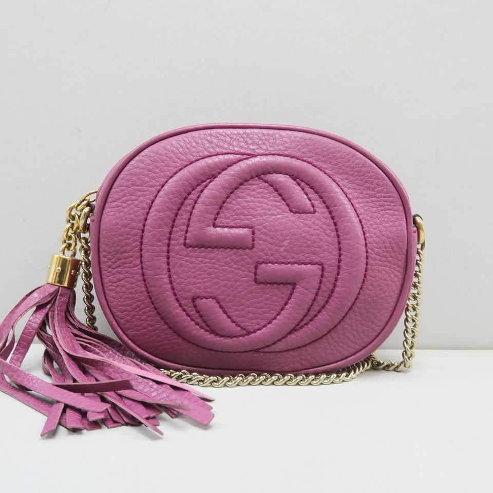 a04185b0fda Gucci Soho Mini Chain Raspberry Calfskin Cross Body Bag - Tradesy
