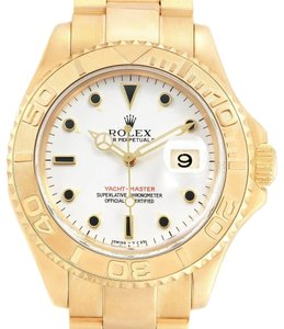 Rolex Rolex Yachtmaster 18K Yellow Gold White Dial Mens Watch 16628
