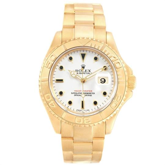 Rolex Rolex Yachtmaster 18K Yellow Gold White Dial Mens Watch 16628 Image 1